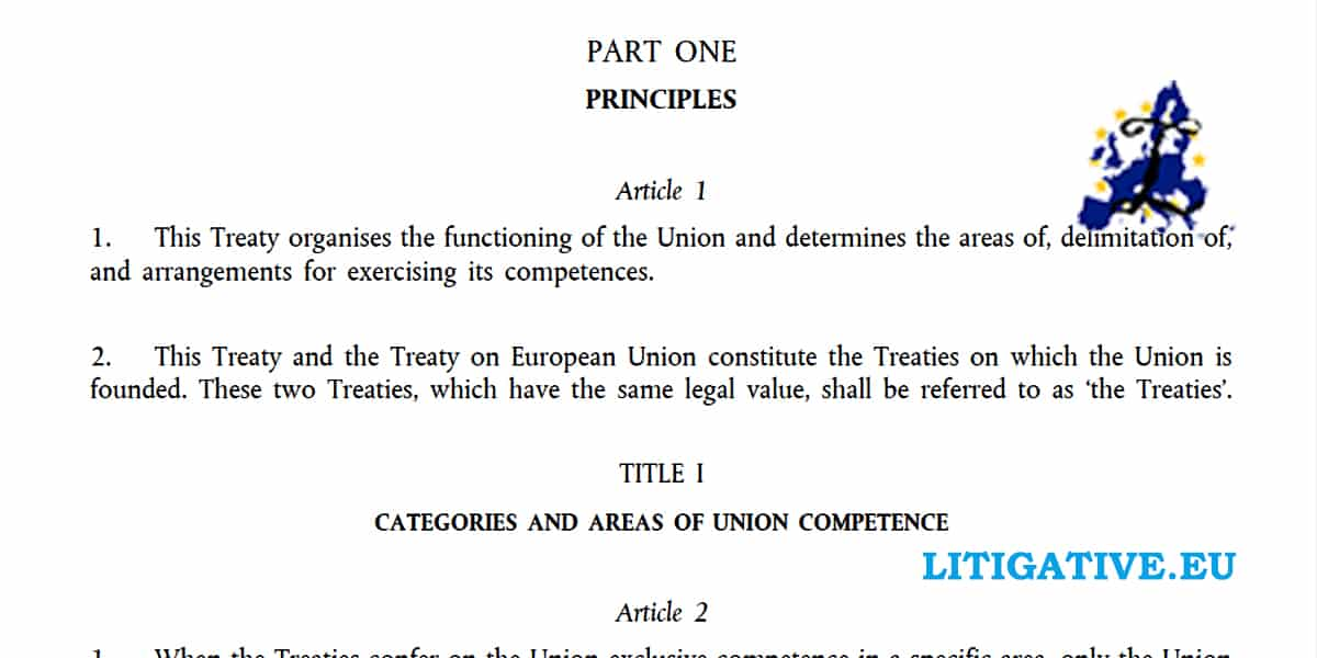 Treaty Functioning European Union